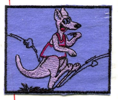 Kenguru - ruhára vasalható textil matrica