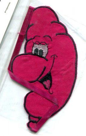 Lufi - ruhára vasalható textil matrica
