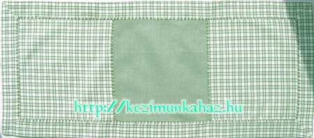 Kockás terítő zöld