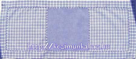 Kockás terítő kék