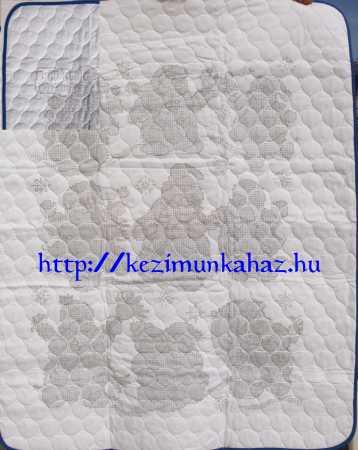 Vidám hóemberek - előfestett gyerek takaró