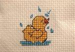Kis kacsa fürdik - keresztszemes készlet
