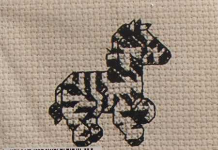 Zebra - keresztszemes készlet