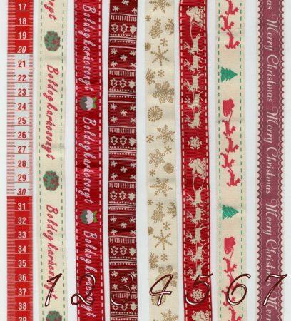 Karácsonyi textil szalag