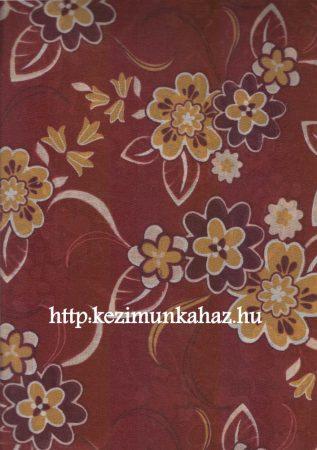 Virágok - mintás vászon anyag