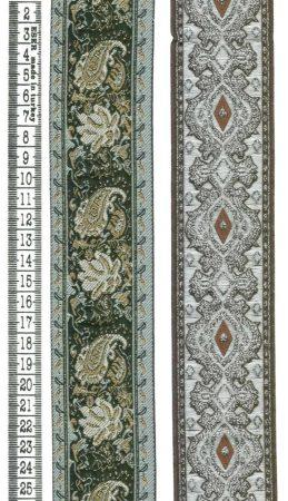 Szalag - textil - mintás - lurex