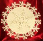 Hópihe kör alakú terítő