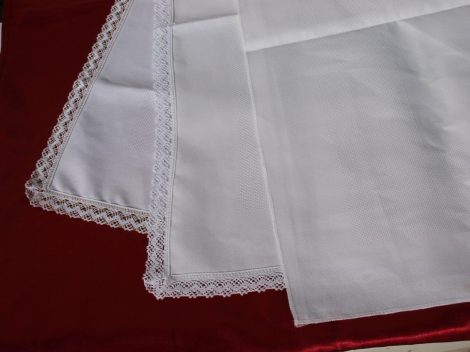 Aida betétes terítő fehér - 52 négyzet
