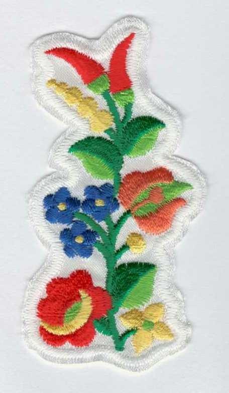 df024e243e Kalocsai hímzés - ruhára varrható textil matrica - Kézimunka Ház