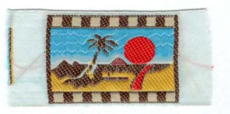 Tengerpart - ruhára varrható textil matrica