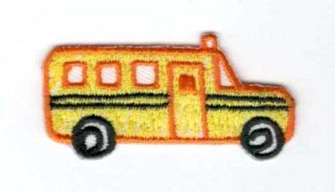Busz - ruhára vasalható textil matrica