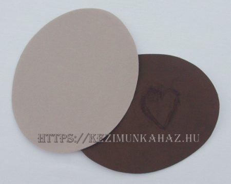 0 Bőrutánzat - ovális - ruhára vasalható textil matrica