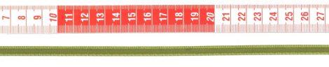 Szatén szalag - 6 mm - oliva