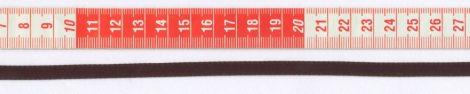 Szatén szalag - 6 mm - sötétbarna