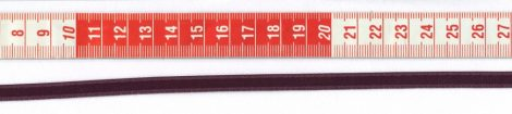Szatén szalag - 6 mm - padlizsán
