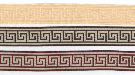 Szalag - textil - görög mintás - arany