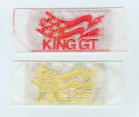 King - ruhára varrható textil matrica