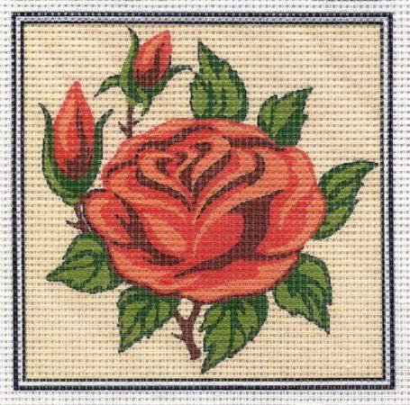 Piros rózsa - előnyomott gobelin