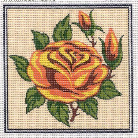 Sárga rózsa - előnyomott gobelin
