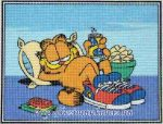 Garfield lustálkodik - előnyomott gobelin