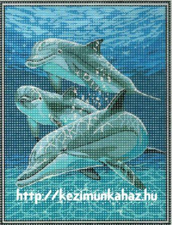 Delfinek - előnyomott gobelin