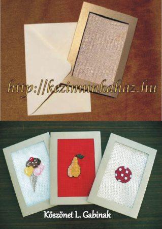 Arany képeslap készlet hímezhető betéttel