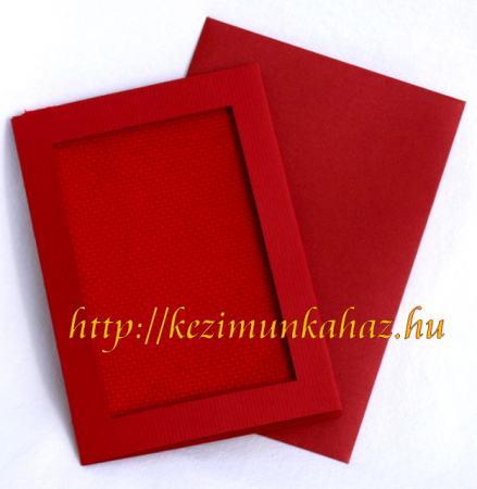 Bordó képeslap készlet hímezhető betéttel