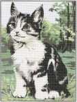 Cica - előnyomott gobelin