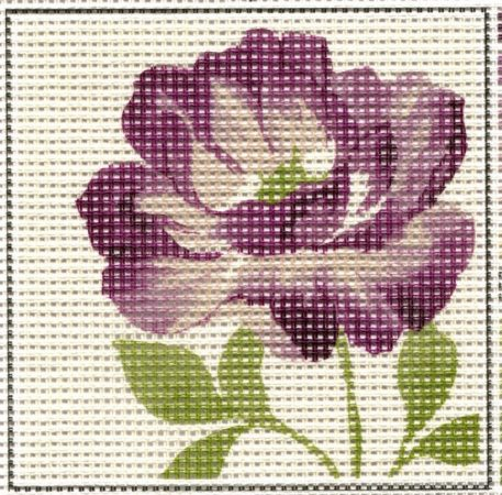 Lila virág - előnyomott gobelin