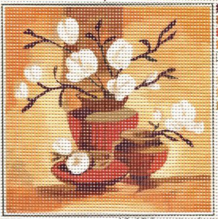 Vázák -előnyomott gobelin