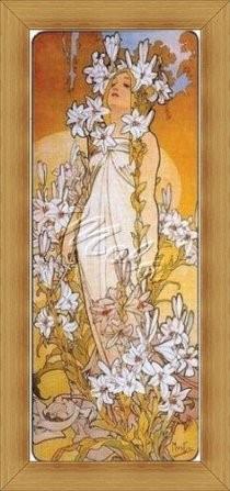 Alfons Mucha - Liliom - Előnyomott Gobelin