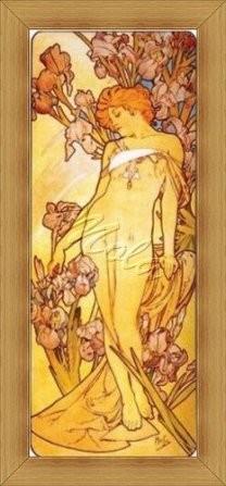 Alfons Mucha - Nőszirom - Előnyomott Gobelin