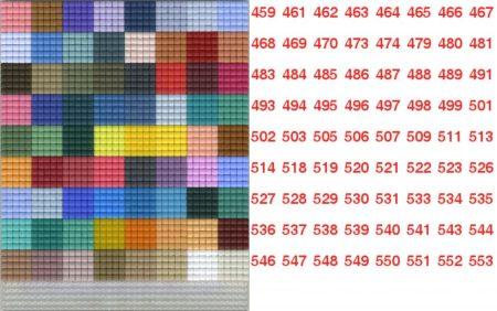 Pixelnégyzetek 459-553-ig - Pixel hobby alaplapra