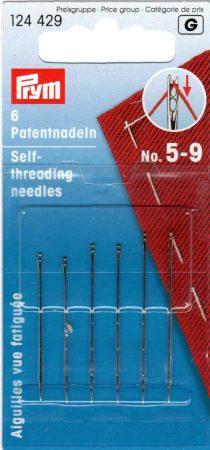 Befűzés nélküli patent, vagy vak tű 5-9 méretig