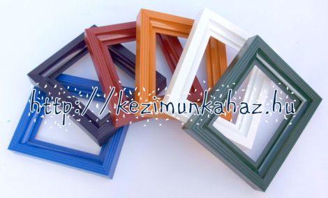 Műanyag képkeret 10,2x12,7 cm alaplaphoz