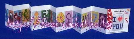 Ötletfüzet Pixel Hobby kulcstartóhoz, medálhoz