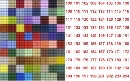 Pixelnégyzetek 100-204-ig - Pixel hobby alaplapra