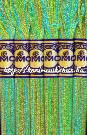 DMC color variations 4050 világoszöld-keki-türkiz osztott hímzőfonal
