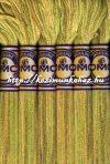 DMC color variations 4070 kekizöld-napsárga-világos barna osztott hímzőfonal