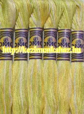 DMC color variations 4080 világos zöld-sárga-off_white osztott hímzőfonal
