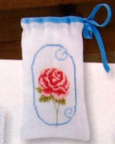 Rózsaszál zsák - Vervaco leszámolható keresztszemes készlet