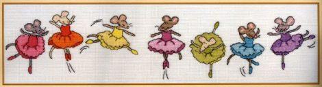 Balerina egerek - Bothy Threads leszámolható keresztszemes készlet