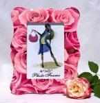 Rózsaszín rózsák - kerámia képkeret