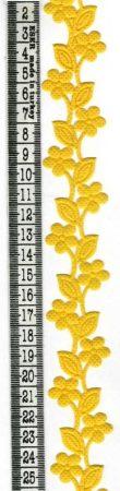 Szalag - filc - virágszál - sárga