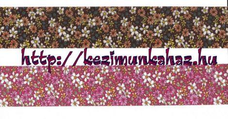 Szalag - textil - apró virágok