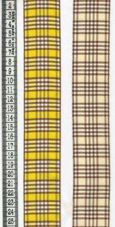 Szalag - textil - kockás