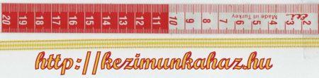Szalag - textil - csíkos - citromsárga