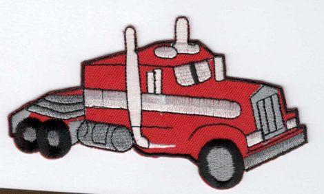 Kamion - ruhára vasalható textil matrica