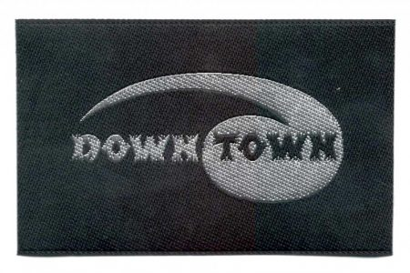 Down town - ruhára vasalható textil matrica