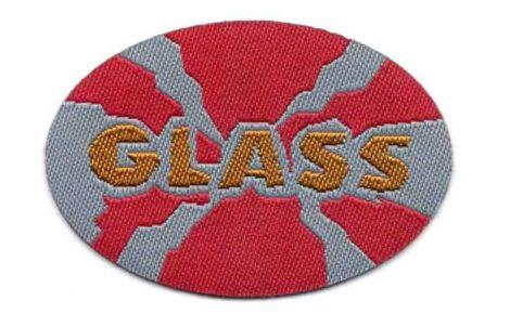 Glass - ruhára vasalható textil matrica